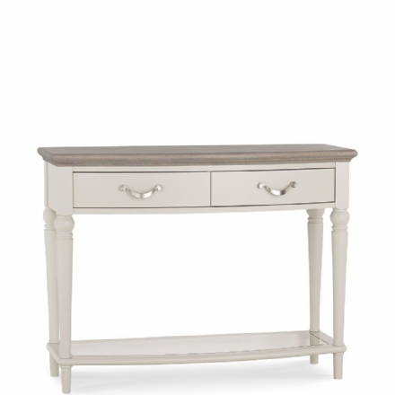 Montreux Washed Oak and Soft Grey Console Table